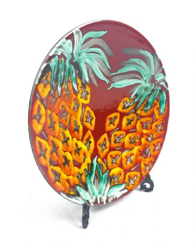 British Art Pottery Anita Harris Of Poole Limited Edition Pineapple Plate 1/75